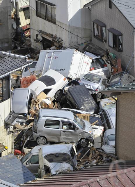 Následky vlny tsunami v Japonsku