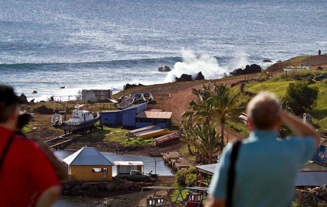 Slabá vlna tsunami v Chile