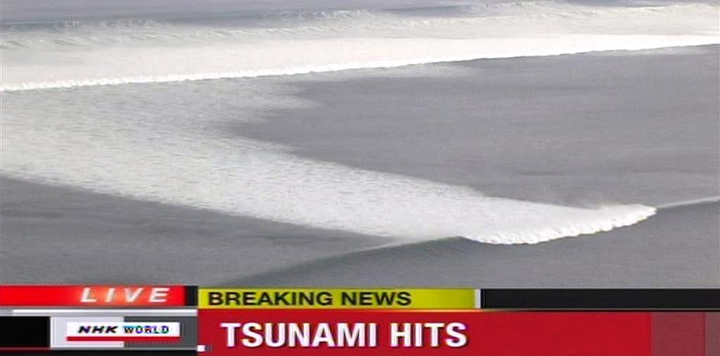 Tsunami po zemětřesení v Japonsku
