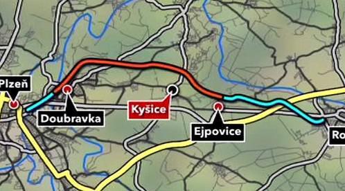 Úsek III. železničního koridoru u Kyšic