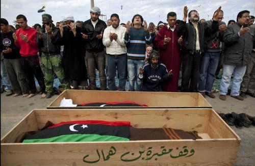 Pohřeb libyjských povstalců