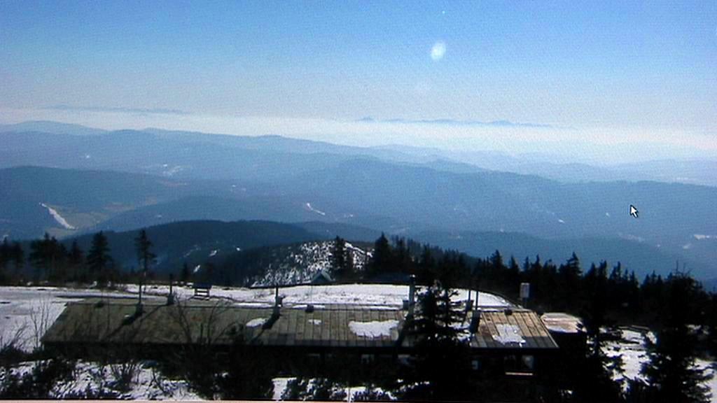Slunečné počasí na horách