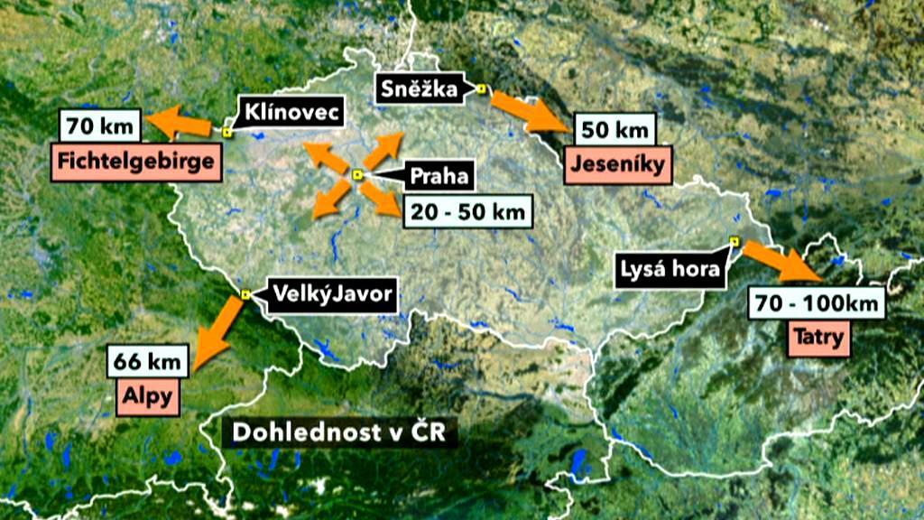 V Česku je v posledních dnech velká dohlednost