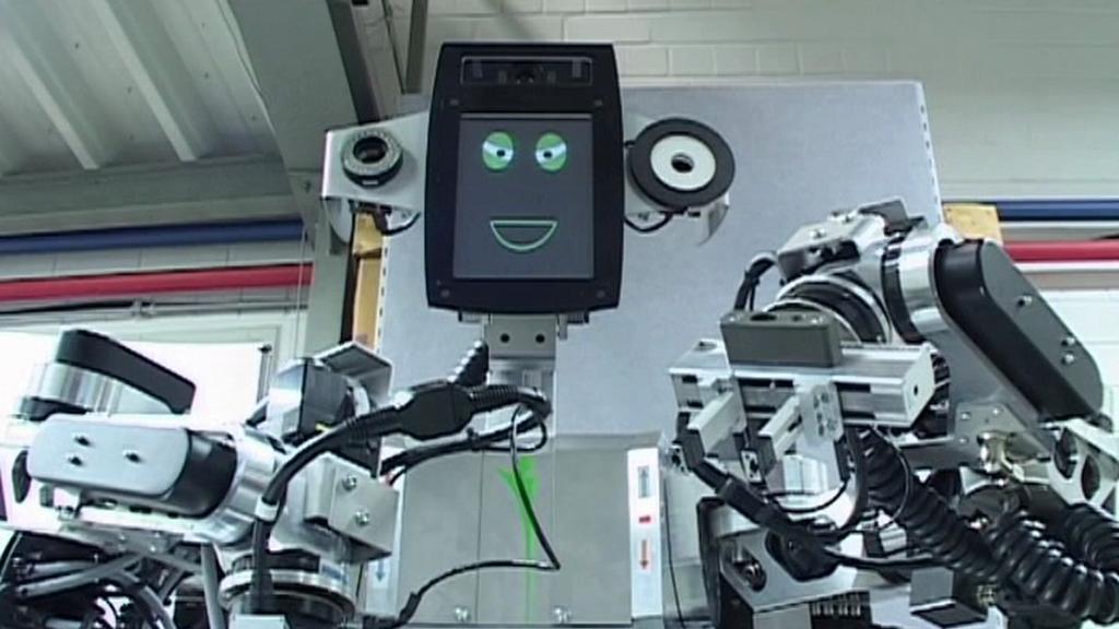 Pi4 Workbot při práci