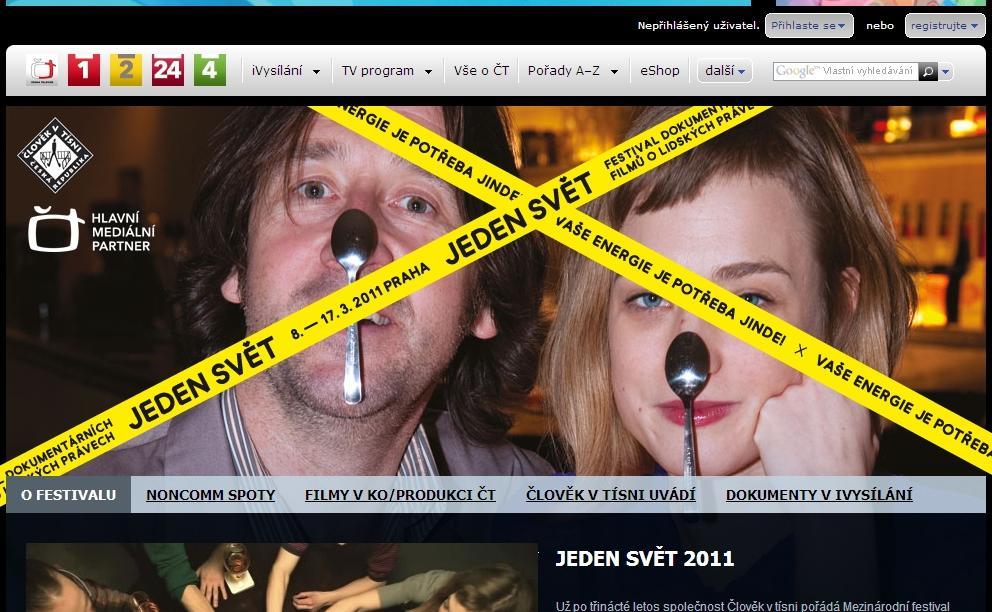 Speciál ČT k festivalu Jeden svět 2011