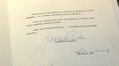 Podepsaná Lisabonská smlouva