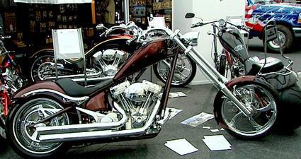 Motocykl na výstavě