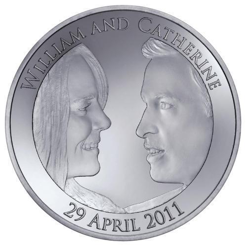 Pamětní mince ke svatbě Williama a Kate