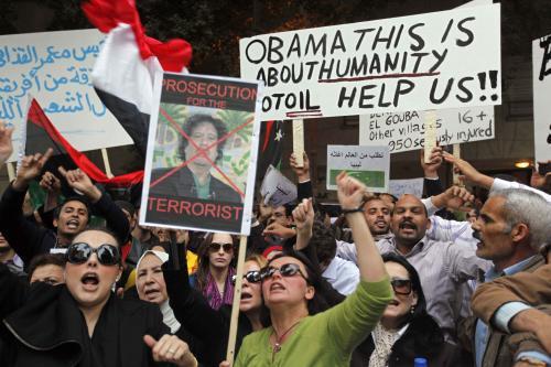 Protesty proti Muammaru Kaddáfímu v Egyptě