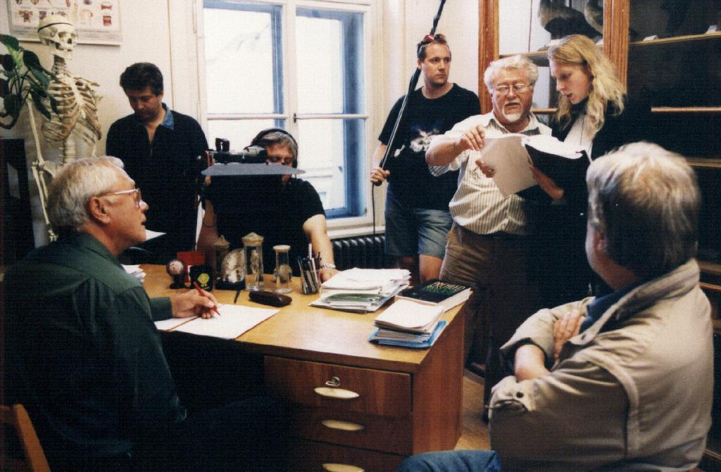 Režisér Milan Růžička při natáčení