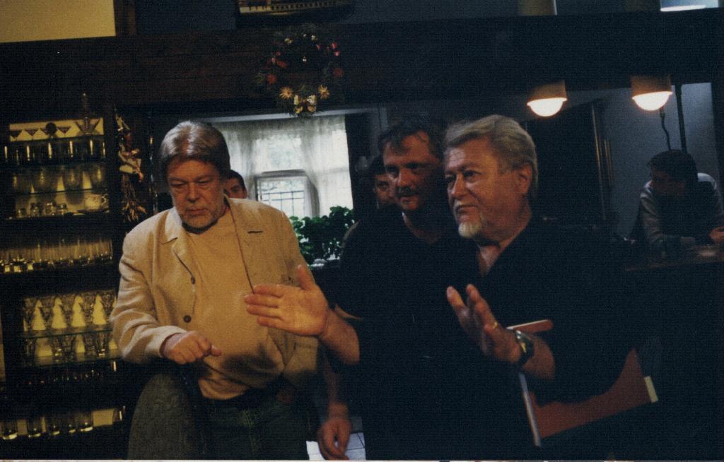 Režisér Milan Růžička (vpravo)