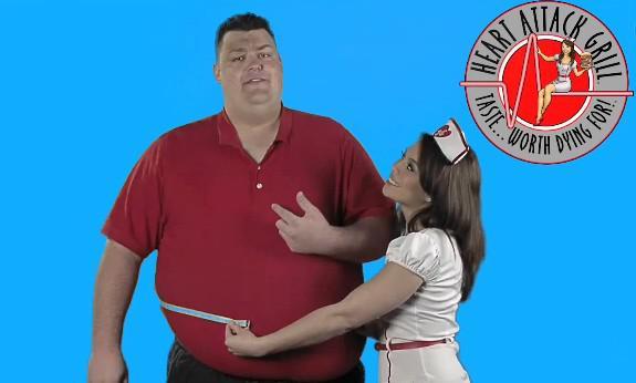 Blair River v reklamě na Infarktový gril