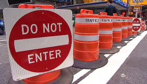 Omezeni dopravy na Broadwayi