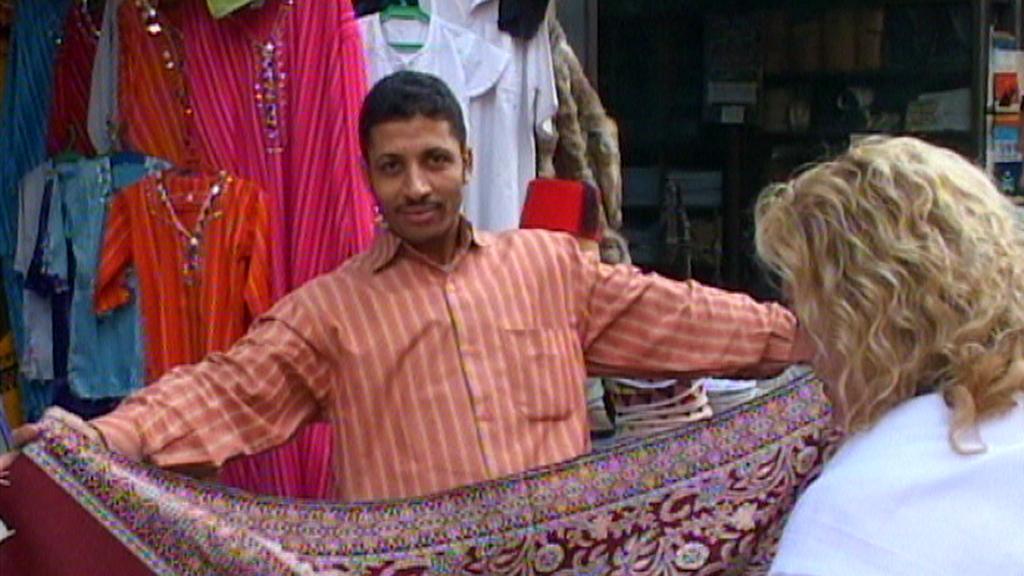 Prodavač v Egyptě