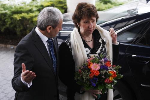 Mikuláš Dzurinda vítá v Bratislavě Catherine Ashtonovou