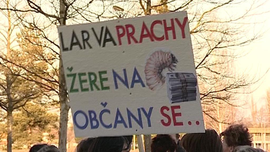 Demonstrace zdravotníků