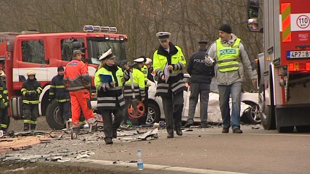 Policisté u tragické havárie