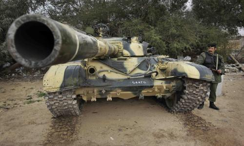 Libyjské armádní jednotky u města Zavíja