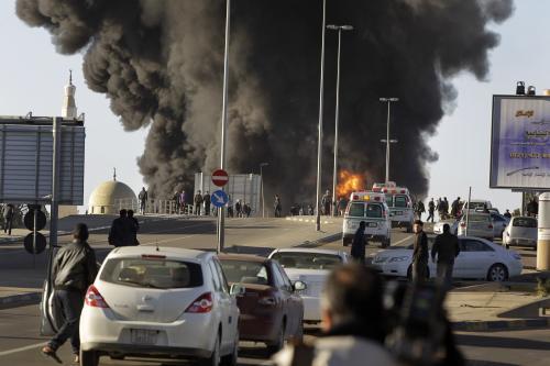 Výbuch cisterny v Tripolisu