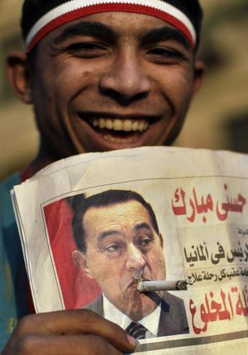 Egypťané si dělají legraci z Husního Mubaraka