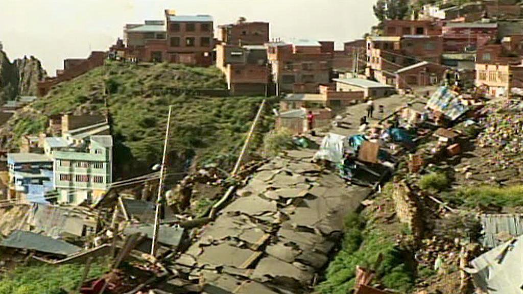 Sesuv půdy v La Pazu