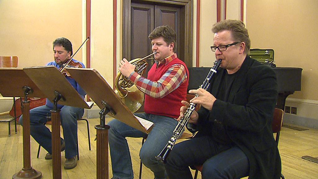 Wenzel Fuchs při zkoušce s Baborák Ensemble