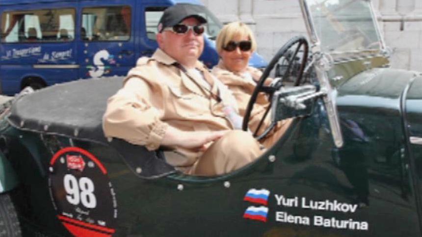 Jurij Lužkov a Jelena Baturinová