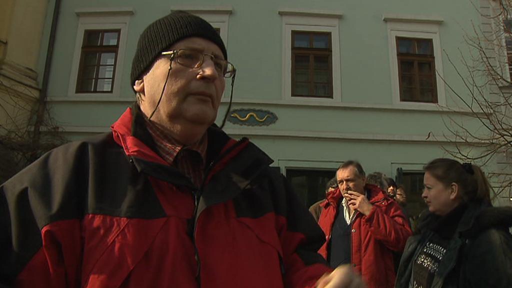 Protest SOP před ministerstvem kultury