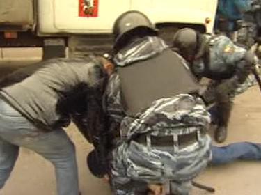 Ruská milice při zásahu