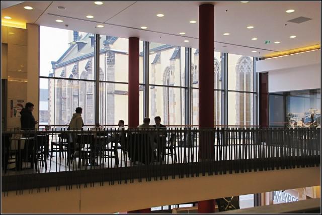 Ústí nad Labem / centrum Forum - pohled z inetriéru