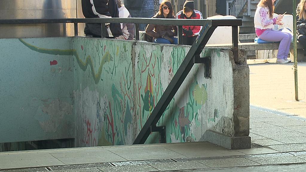 Vstup do metra
