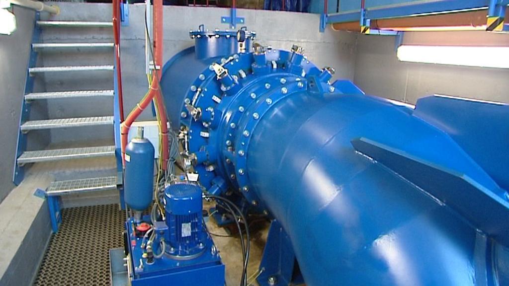 Ve vodní elektrárně