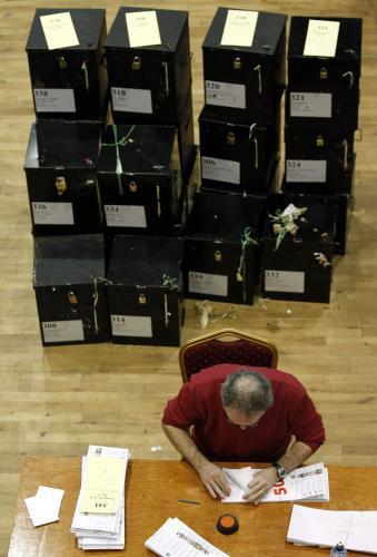 Sčítání výsledků voleb v Irsku