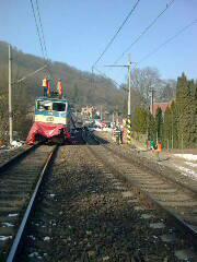 Havarovaný vlak