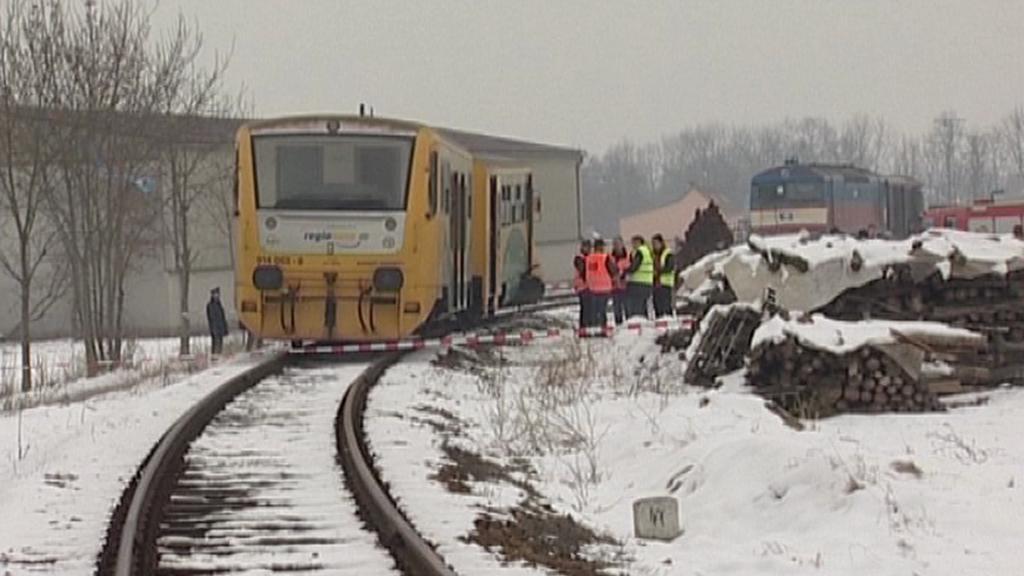 Místo vlakové srážky ve Vodňanech