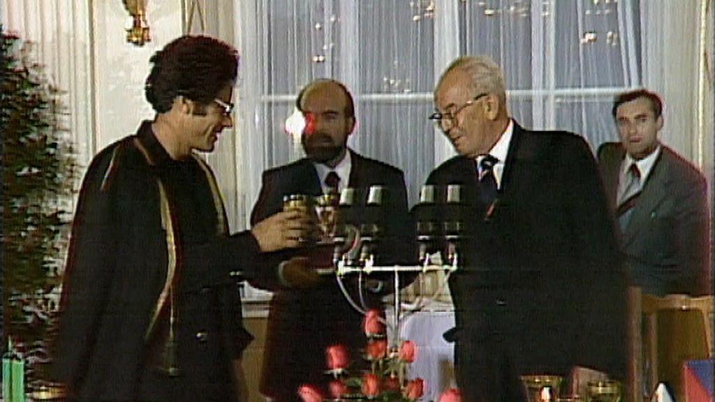 Muammar Kaddáfí v Praze