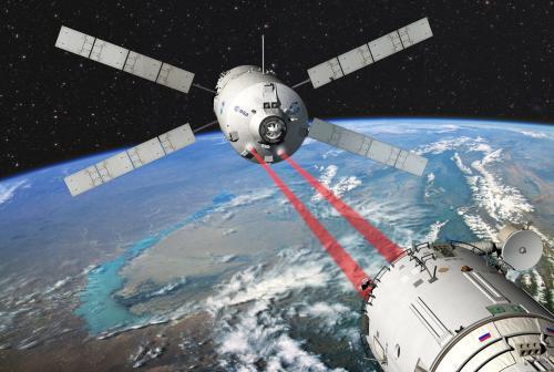 Animace připojení Johannese Keplera k ISS