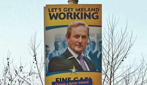 Enda Kenny na volebním plakátu
