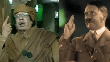 Muammar Kaddáfí a Adolf Hitler