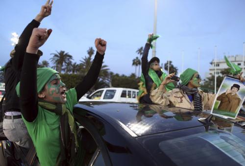 Protesty proti Muammaru Kaddáfímu v Tripolisu