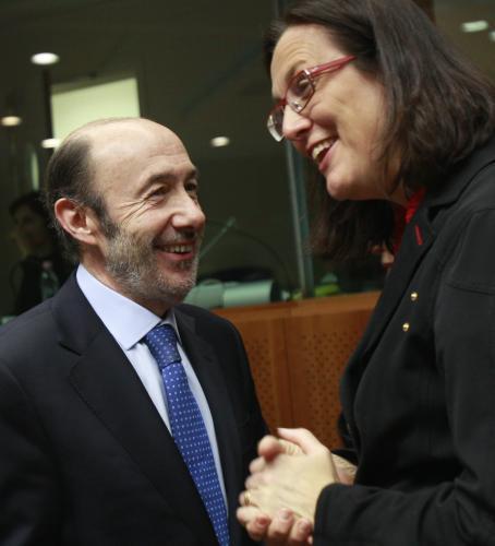 Alfredo Perez Rubalcaba a Cecilia Malmströmová