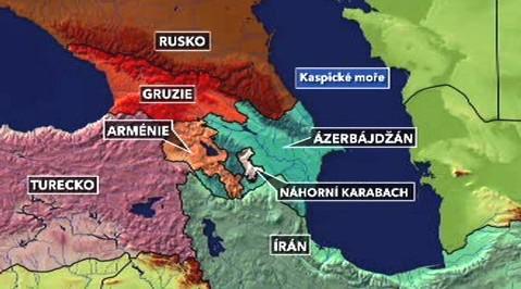 Mapka Kavkazu