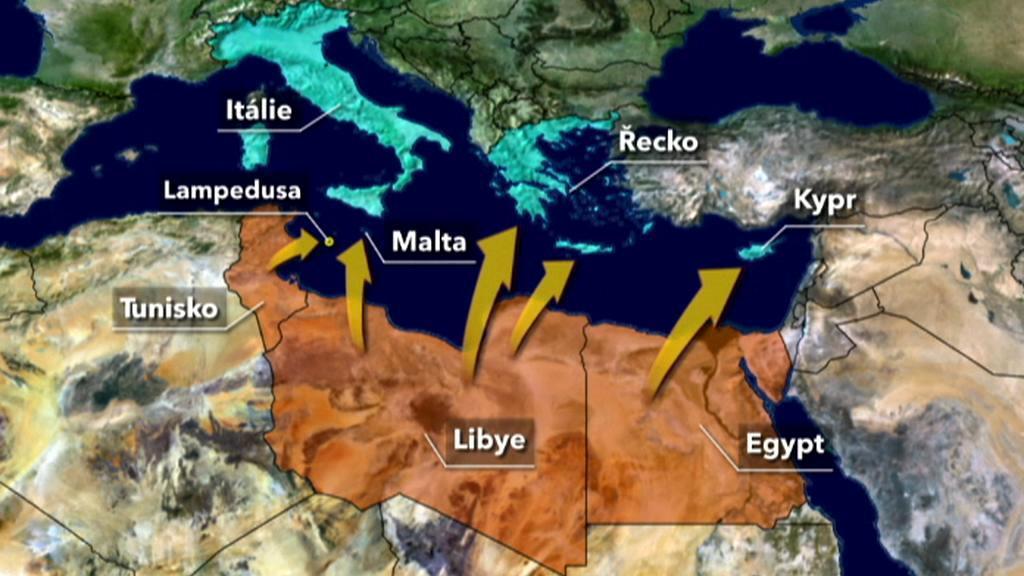 Afričtí uprchlíci míří do Evropy
