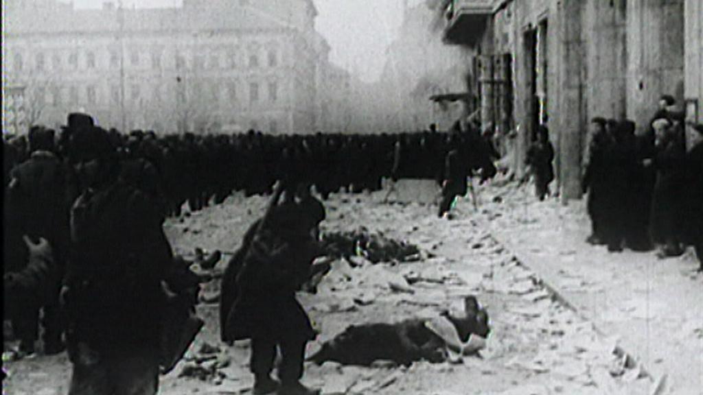 Záběry z maďarské revoluce