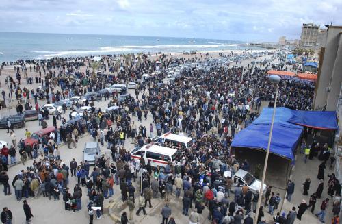 Davy protestujících Libyjců v Benghází