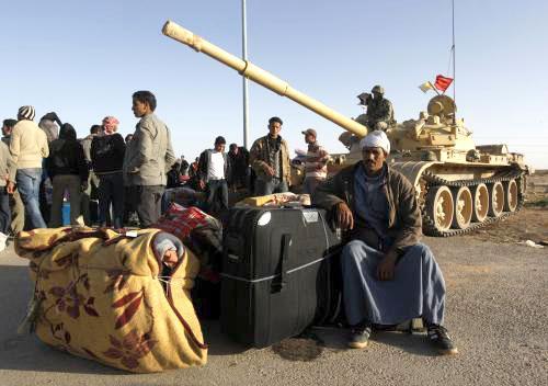 Egypťané na libyjských hranicích