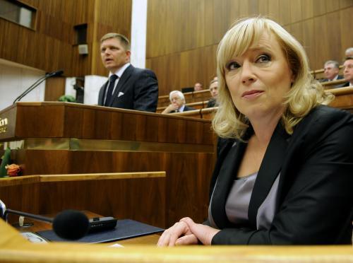 Robert Fico a Iveta Radičová