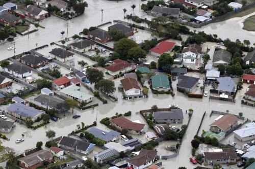 Christchurch byl po zamětřesení zaplaven