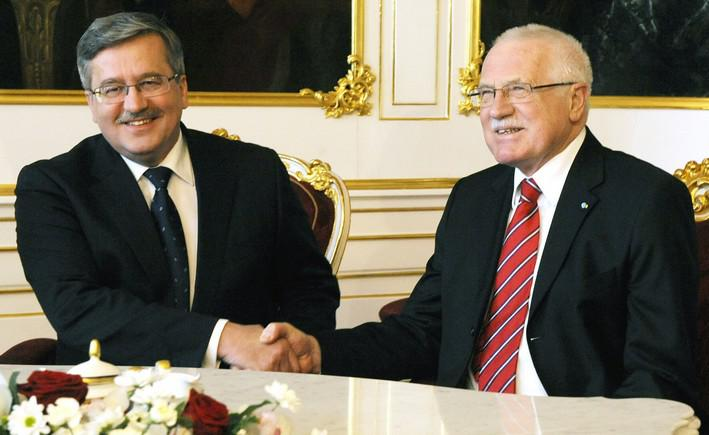 Bronislaw Komorowski a Václav Klaus