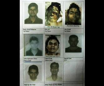 Fotografie teroristů z Bombaje